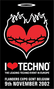 I Love Techno 2002 Logo Vector