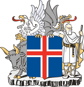 Iceland Coat of arms Logo Vector