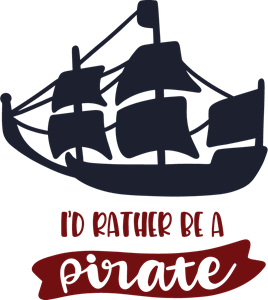I'D RATHER BE A PIRATE Logo Vector