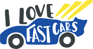 I LOVE FAST CAR Logo Vector