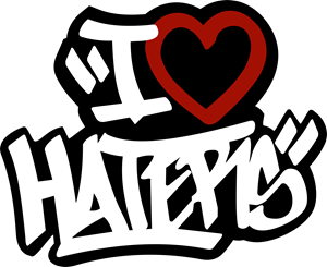 I Love Haters Logo Vector