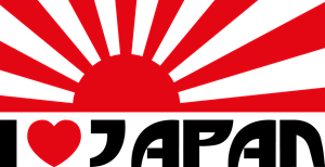 I Love Japan Logo Vector