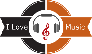 i love music Logo Vector