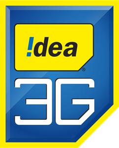Idea Mobile of india 3G Logo Vector