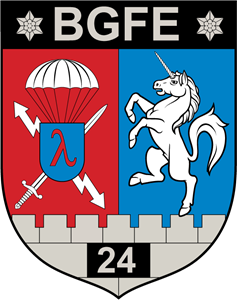 Insignia Hungary Army Regiment 24th BGFE Logo Vector