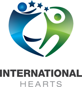 International Hearts Health and Care Logo Vector
