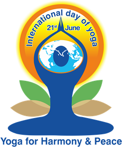 International Yoga Day Logo Vector