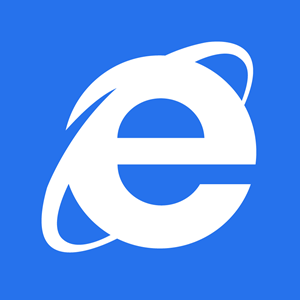 Internet explorer tile Logo Vector