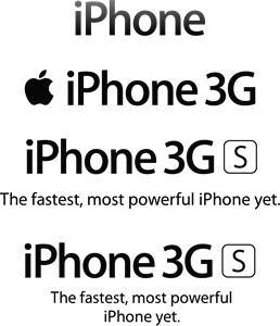 iPhone 3G S Logo Vector