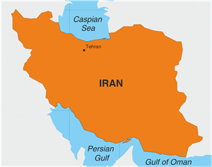 IRAN MAP Logo Vector