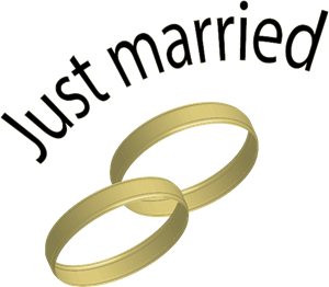 Just married Logo Vector