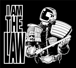 Judge Dredd I Am the Law Logo Vector