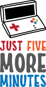 JUST FIVE MORE MINUTES Logo Vector