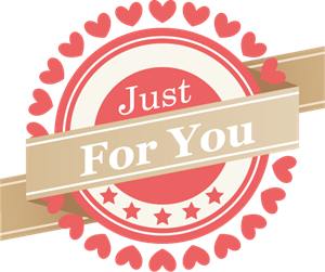 Just For You (Valentine's Day) Logo Vector