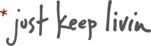 Just Keep Livin Logo Vector