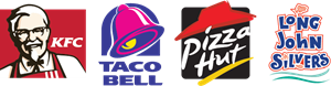 KFC - Taco Bell - Pizza Hut - Long John Silver's Logo Vector