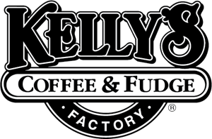 Kelly's Coffee & Fudge Factory Logo Vector