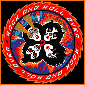 Kiss Rock and Roll Over Logo Vector