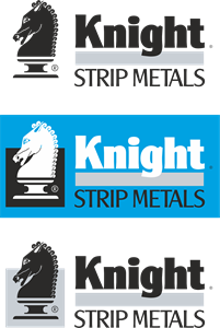 Knight Strip Metals Logo Vector