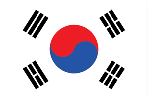 Korea Flag Logo Vector