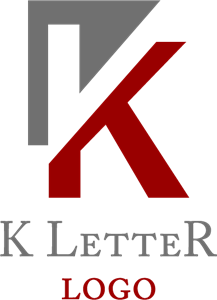 K Cut Letter Logo Vector Ai Free Download
