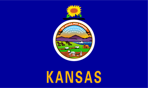 Kansas State Flag Logo Vector