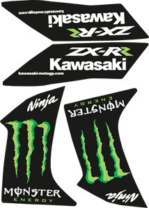 Kawasaki Ninja Monster Logo Vector