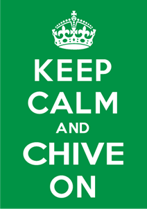 Keep Calm Chive On Logo Vector