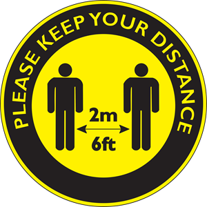 KEEP DISTANCE Logo Vector