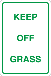 Keep off grass Logo Vector