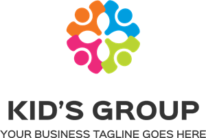 Kid's group Logo Vector