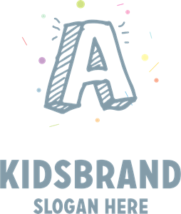 Kids with letter A the Company Logo Vector