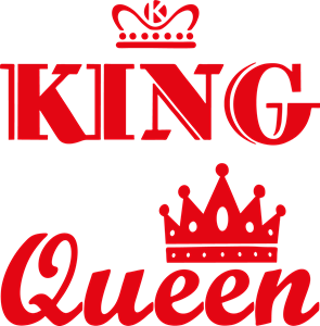 king & queen t-shirt Logo Vector