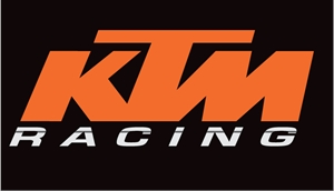 KTM Racing with Stripe Logo Vector