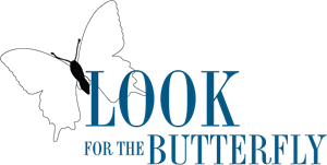 Look For The Butterfly Logo Vector