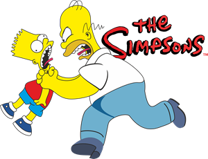 Los Simpsons Bart y Homero Logo Vector