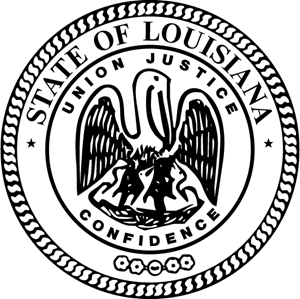 Louisiana State Seal Logo Vector
