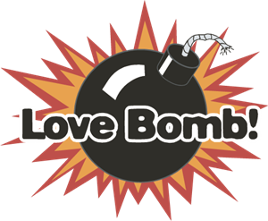 Love Bomb Logo Vector