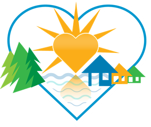 Landscape with Heart Logo Vector