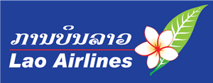 Lao Airline White Type Logo Vector