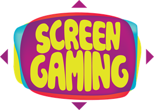 Large Screen Display Video Game Logo Vector