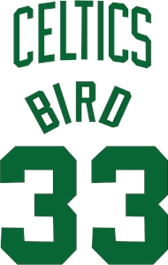 larry bird jersey Logo Vector