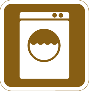 LAUNDRY TOURIST SIGN Logo Vector