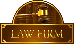 LAW FIRM CUSTOM Logo Vector