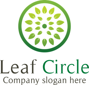 leaf circle Logo Vector