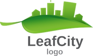 Leaf city Logo Vector