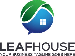 Leaf House Logo Vector