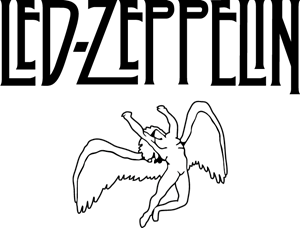 Led Zeppelin Angel Logo Vector