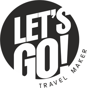 LET´S GO! Travel Maker Logo Vector