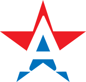 LETTER A STAR CUSTOM Logo Vector
